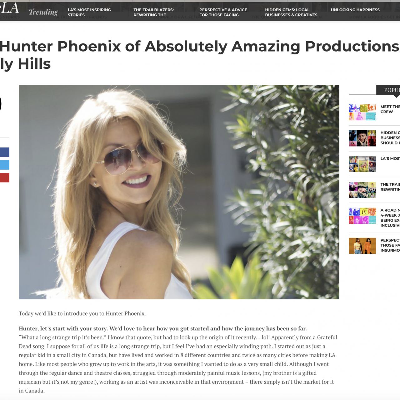 Voyage LA: Meet Hunter Phoenix